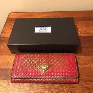 Parda vintage weave wallet